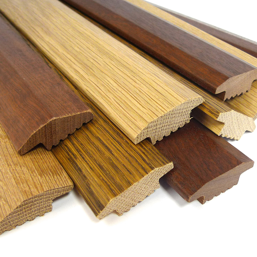 Parallel frontier carpetline solid wood flooring trims for Floor profile