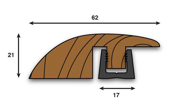how to cut hardwood parallel to door